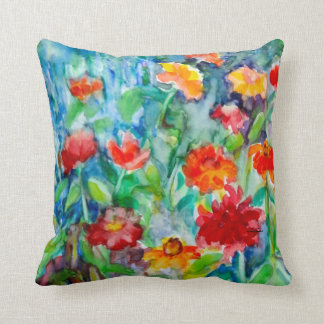 Zinnia Summer Throw Pillow
