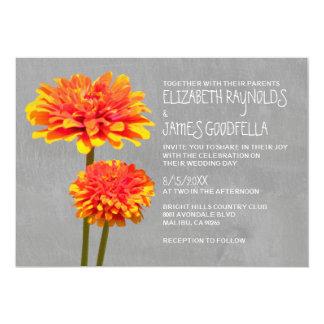 Zinnia Wedding Invitations