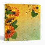 Zinnias and Sunflowers notebook binder