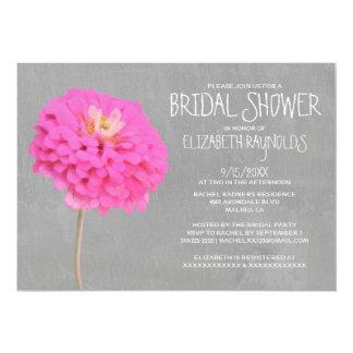 Zinnias Bridal Shower Invitations