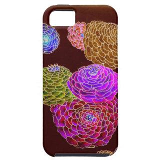 Zinnias de iphone4-Zany en el rosa de neón Funda Para iPhone SE/5/5s