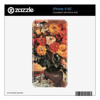 Zinnias de Lovis Corinto Calcomanías Para iPhone 4