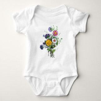 Zinnias, Hollyhocks y ramo del girasol por Prevost Body Para Bebé