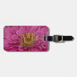 zinnias luggage tag