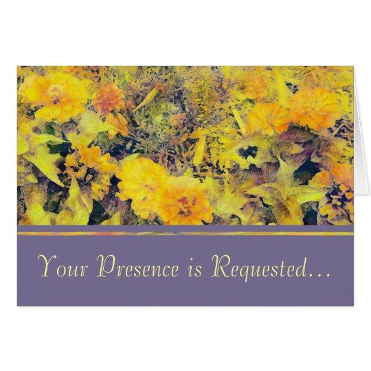 Zinnias Marigolds Card