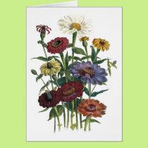Zinnias Watercolor Get Well Soon Card
