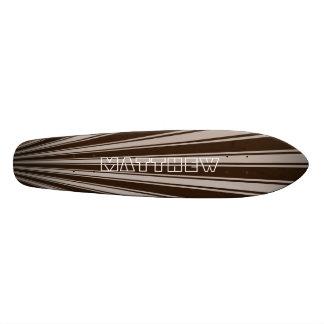 Zinnwaldite brown Color Stripe Funky Pattern Custom Skate Board