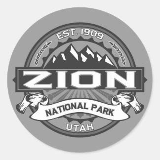Zion Ansel Adams Classic Round Sticker