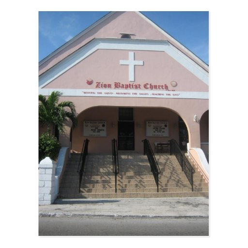Zion Baptist church Post Card