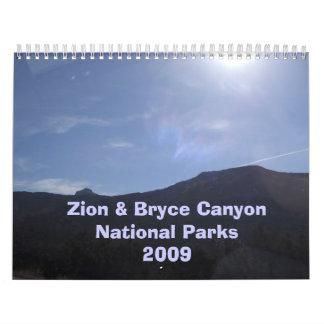 Zion & Bryce Canyon National Pa... Calendar