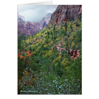 Zion Canyon National Park Card