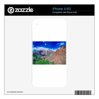 zion canyon national park iPhone 4S decals