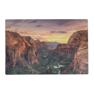 Zion Canyon National Park Placemat at Zazzle