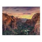 Zion Canyon National Park Postcard