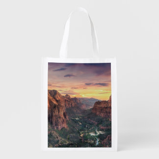 Zion Canyon National Park Reusable Grocery Bags
