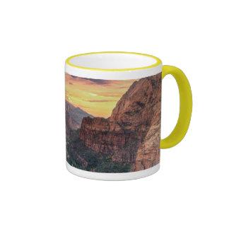 Zion Canyon National Park Ringer Coffee Mug