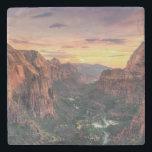 "Zion Canyon National Park Stone Coaster<br><div class=""desc"">USA,  Utah,  Zion National Park,  Zion Canyon</div>"