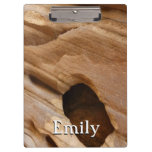 Zion Canyon Wall I Abstract Nature Photography Clipboard