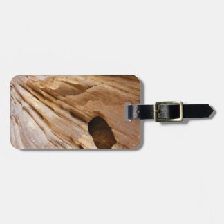 Zion Canyon Wall I Abstract Nature Photography Luggage Tag