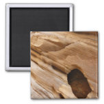 Zion Canyon Wall I Abstract Nature Photography Magnet
