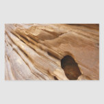 Zion Canyon Wall I Abstract Nature Photography Rectangular Sticker
