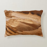 Zion Canyon Wall II Red Rock Abstract Photography Accent Pillow