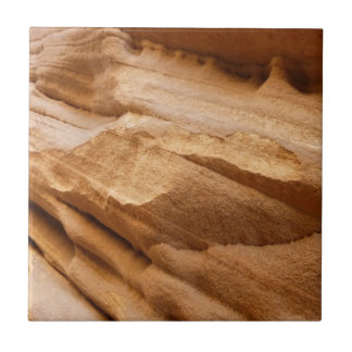 Zion Canyon Wall II Red Rock Abstract Photography Ceramic Tile