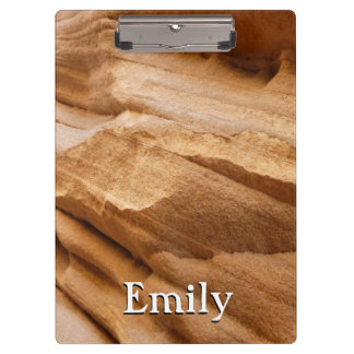 Zion Canyon Wall II Red Rock Abstract Photography Clipboard