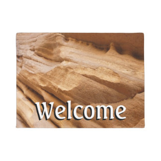 Zion Canyon Wall II Red Rock Abstract Photography Doormat