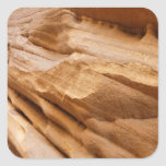 Zion Canyon Wall II Red Rock Abstract Photography Square Sticker
