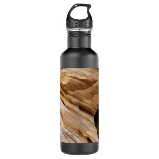Zion Canyon Wall II Red Rock Abstract Photography Water Bottle