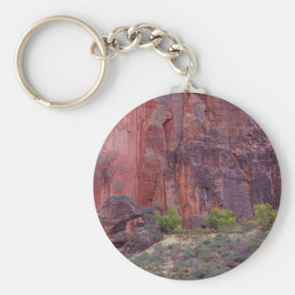 Zion Canyons Big Bend Cliffs Red Keychain