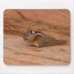 Zion Chipmunk on Red Rocks Mouse Pad