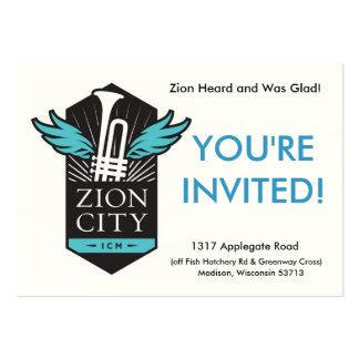 Zion City Welcome Cards Large Business Card