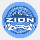 Zion Cobalt Classic Round Sticker