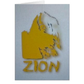 Zion-Great White Throne Card