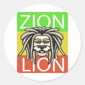 ZION LION CLASSIC ROUND STICKER