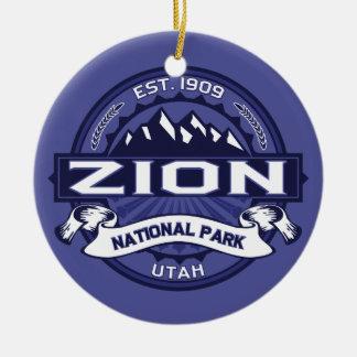 Zion Midnight Ceramic Ornament