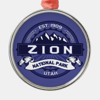 Zion Midnight Metal Ornament