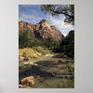 Zion Mountain Stream poster