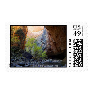 Zion Narrow Cave Postage Stamps