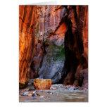Zion Narrows Boulder Utah Blank Greeting Card