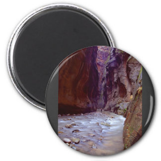 Zion Narrows Hiking Through The River In Zion Narr Refrigerator Magnets
