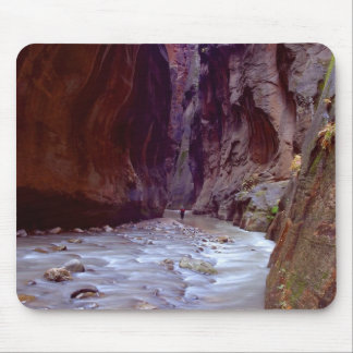 Zion Narrows Hiking Through The River In Zion Narr Mouse Pad