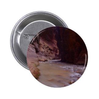 Zion Narrows Streams Virgin River 2 Inch Round Button