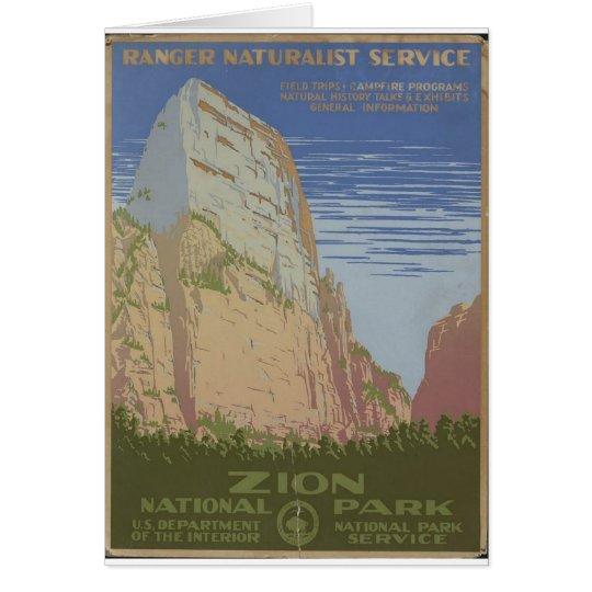 Zion National Park 1938 Springdale Utah Card