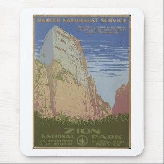 Zion National Park 1938 Springdale Utah Mouse Pad