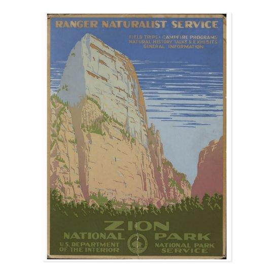 Zion National Park 1938 Springdale Utah Postcard