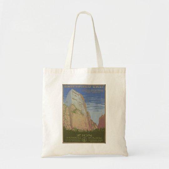 Zion National Park 1938 Springdale Utah Tote Bag