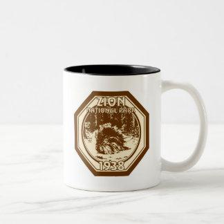 ZION National Park 1938 Vintage Two-Tone Coffee Mug
